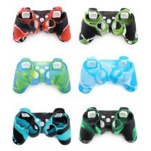 12 tipos de estilo camuflagem caso de proteção de silicone para controlador ps3 original para sony thumbstick pele