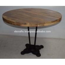 cast iron vintage industrial restaurant table
