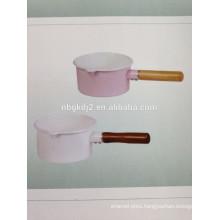 enamel milk pot with single handle