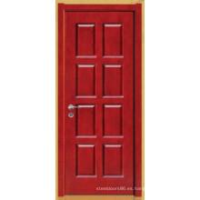 Puerta de madera maciza pura