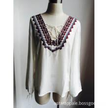 Button Front Curve Hem Women Shirt
