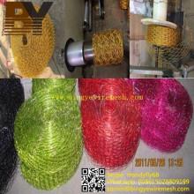 Artesanía, colorido, hexagonal, red de alambre, para, decoración, guirnalda