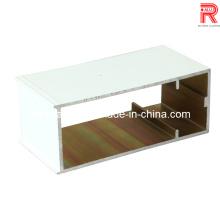 Profils enduits de poudre d'aluminium / aluminium pour mur rideau / fenêtre