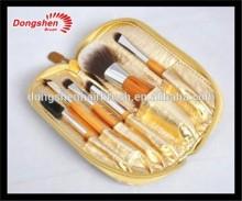 6pcs vegan mineral makeup sets,makeup brush set free sample,brush bag with zipper