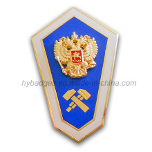 3D Zinc Alloy Badge Shield for Souvenir (GZHY-BADGE-020)