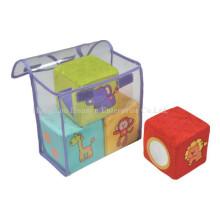 Factory Supply Stuffed Plush Blocks Rattle Toy