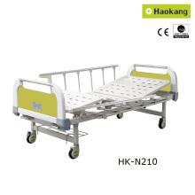 Kundengerechtes manuelles zwei-Kurbel-medizinisches Bett für Krankenhaus (HK-N210)