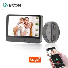 Bcom support tuya app 4.3 inch night vision wireless audio intercom