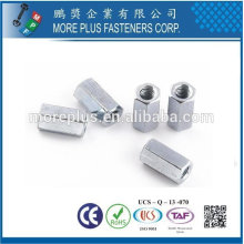 Taiwan DIN6334 Stainless Steel Long Hex Coupling Nuts Round Coupling nuts