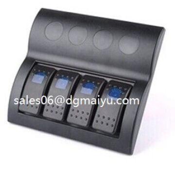 with Blue Light Car Marine Waterproof Rocker Switch Panel