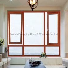 Feelingtop superior / inferior Hung Thermal Break ventana de aluminio abatible
