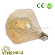 A loja colorida E27 220V do ouro do diamante 6.5W liso decora a luz CONDUZIU a lâmpada