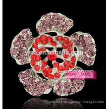 luxury fashion colored flower scarf brooch