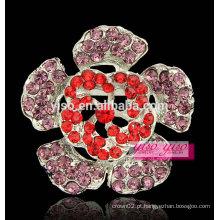 Broche de bufê de flor colorida de moda de luxo