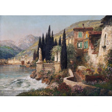 Peinture à l'huile méditerranéenne moderne et décorative murale