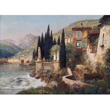 Decorativa moderna pintura a óleo mediterrânica moderna