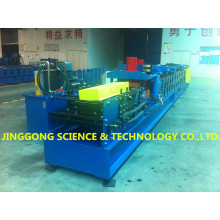 Roll formando máquina de purlin / Máquina de formação de rolo de purlin intercambiável C / Z