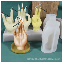 DIY Handmade 3d Creative Ornaments Gesture Plaster Mould Candle Silicone Mold Finger