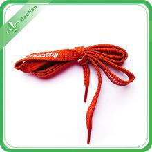 La mode des chaussures de toile de fil d'or et la longueur personnalisée lacets colorés
