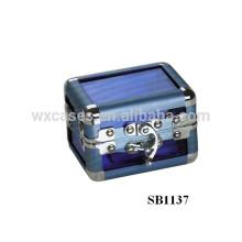 Nova caixa único relógio de alumínio com uma almofada dentro