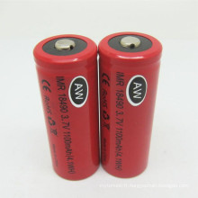 Aw18350 800mAh 3.7V Li-ion Rechargeable Dry Battery