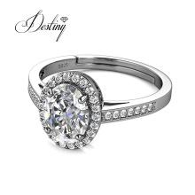 925 Sterling Silver 1 Carat Moissanite Diamond Halo Ring for Women