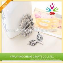 Древний цветок анти серебряные украшения дома железа Щепка тонкая металлическая наклейка