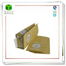 Бумажный мешок для муки, 2 слоя, из крафт-теста, мешки для пищевых продуктов