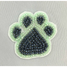 3 color Crystal beads footprint patches