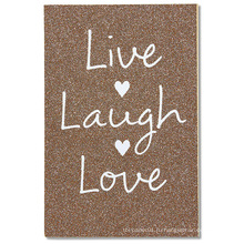 American Greetings Live Laugh Love Свадебная открытка с блестками