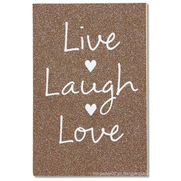 Saudações americanas ao vivo riso amor cartão de casamento com Glitter