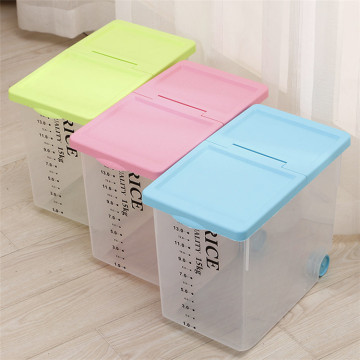 Plastic Rice Container Holds 15kgs Rice With Bamboo Charcoal Bag