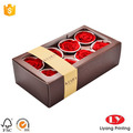 Custom printed cheap flower paper box clear top