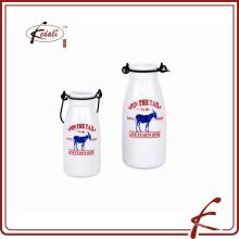 240 mililitros botella de leche durable de la porcelana de la nueva manera con el patten de la calcomanía