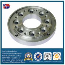 Brida de acero inoxidable SUS304 / SUS 316 por mecanizado CNC