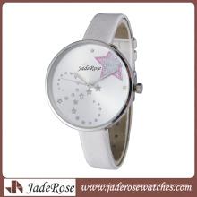 Montre de vente chaude Montre simple de grande montre de cadran de fille