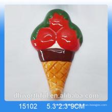 2016 Wholesale icecream ceramic refrigerator magnet