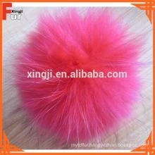 Fur Pom Pom Ball for hat, with press stud