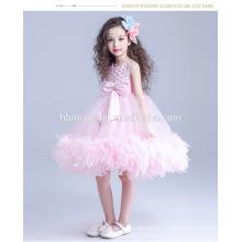 Chica de moda niños bonitos princesa niña vestido de novia vestido de color rosa bebé niña princesa para la boda