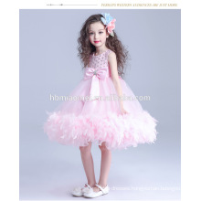 Fashion girl pretty children princess baby girl wedding dress pink color dress baby girl princess for wedding
