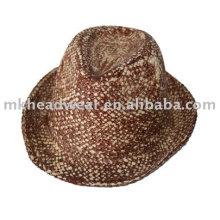 Sombrero de vaquero de paja de papel de moda