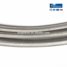 2 Inch Food Grade 3/8 Inch Convoluted Stainless Steel Braided Teflon PTFE Hose