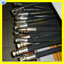 Conjunto de manguera de aceite Montaje de manguera industrial Extremo de manguera con accesorio