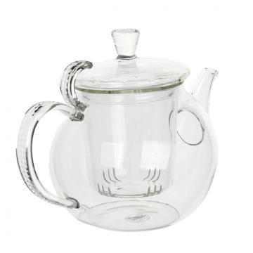 Factory Free sample for Hand Blown Teapot 800ml Mouthblown Pretty Pyrex Teapot for Sale export to Netherlands Antilles Factory