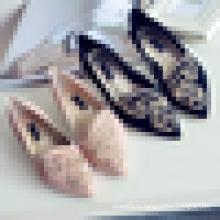 Китай Оптовая Женская Модная Обувь Модная Вышивка Плоская Повседневная Обувь