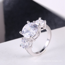 White zircon stone rings hot sale Wholesale wedding accessories