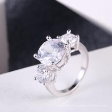 Белый циркон камень кольца Hot Оптовая продажа свадебные аксессуары