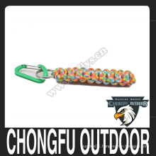 High quality 550 paracord survival keychain for camping equipment