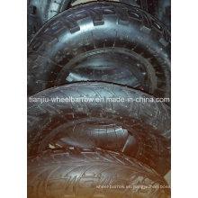 Rueda neumática neumática de goma del aire 400-8 para la carretilla