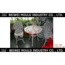 Cadeira de luxo de plástico e molde de mesa